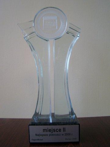 II miejsce za Płatności w 2008 roku