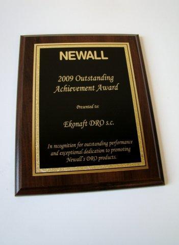 Nagroda od NEWALL w roku 2009