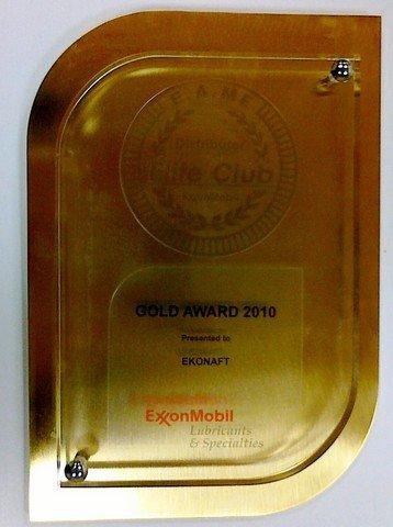 Złote odznaczenie w roku 2010